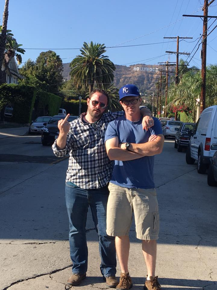Two GOATs in Hollywood: My friend Anthony Eillson and myself.